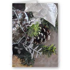 Christmas garland greeting cards