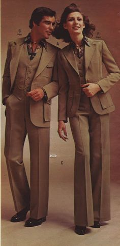 His & Hers - Three-piece suits: you win best dressed - 1970s