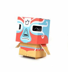 Paper toy luchador on Behance