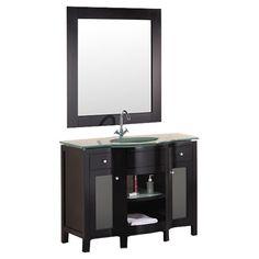 "Found it at Wayfair - Rome 43"" Single Sink Vanity Set http://www.wayfair.com/daily-sales/p/Single-Vanities-Rome-43%22-Single-Sink-Vanity-Set~VED1002~E16253.html?refid=SBP.rBAZEVR-EgFDI2wpxNAgArfXp084M012n5AP_Vf8-iU"