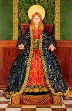 Thomas Cooper Gotch (English, 1854-1931). The Child Enthroned, c. 1894