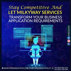 Stay competitive & let Milkyway transform your business application requirements. Milkyway services provides end-to-end design and development solutions. Call ☎️ at : For more information about service visit our site right now- . Software Development, Ecommerce, Web Design, Management, Branding, Technology, Let It Be, Website, School