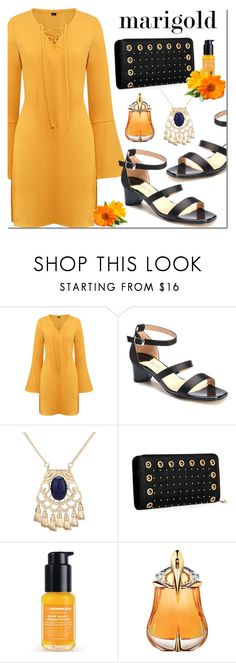 """Yoins marigold"" by mada-malureanu ❤ liked on Polyvore featuring Ole Henriksen, Thierry Mugler, marigold, yoins, yoinscollection and loveyoins"