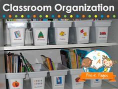 Tips and ideas for organizing your preschool, pre-k or kindergarten classroom.