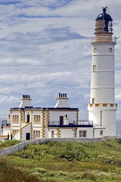 Corsewall Lighthouse ~ first lit in 1817, it overlooks the North Channel of the Irish Sea, at Corsewall Point in Scotland.
