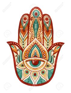 Hamsa Hand in watercolor. Protective and Good luck amulet in Indian Arabic Jewish cultures. Hamesh hand for tattoo boho yoga design textiles elements etc. Hand Tattoos, Fatima Hand Tattoo, Hand Der Fatima, Hamsa Drawing, Hamsa Art, Hamsa Painting, Hand Symbols, Religious Symbols, Mayan Symbols