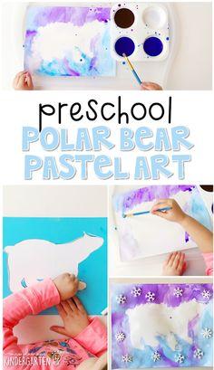 Preschool: Polar Bears - Arctic Animals, etc. Bears Preschool, Preschool Themes, Preschool Art, Polar Animals Preschool Crafts, Polar Bear Crafts, Preschool Winter, Preschool Learning, Penguins And Polar Bears, Polar Bear Games
