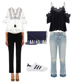 """""""Simple Look 😍"""" by indahhalit on Polyvore featuring Talitha, Current/Elliott, Frame Denim, adidas Originals and Rebecca Minkoff"""