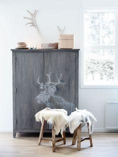 Een warm Scandinavisch winter huis