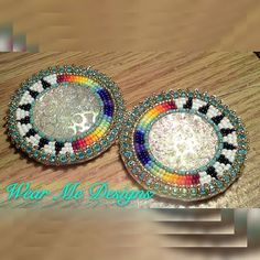 "★NEW★ Pisces beauty $60 plus S&H $5 USA PayPal only! NO HOLDS 2"" Lever back earrings, sz11 SB, rhinestone, white leather backing #beadedjewelry #beadedearringsforsale #nativedesign #ndn #firecolors #turquoise #beautiful #love #enjoy #youlike #nativeamerican #nativebeadwork #beads #nativeblingearrings #nativebling #nativeamericanbeadwork #earrings #wearmedesigns # Beaded Earrings Native, Beaded Earrings Patterns, Native Beadwork, Native American Beadwork, Seed Bead Earrings, Native Beading Patterns, Beadwork Designs, Brick Stitch Earrings, Bead Sewing"