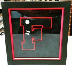 Here's a fun idea: Frame your letters from your high school letter jacket! This also makes a great gift! #art #pictureframing #customframing #denver #colorado #shadowbox