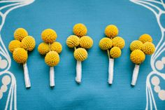 simple billy button boutonniere