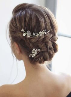 46 Gorgeous Updos Wedding Hairstyles ideas - New Sites Basic Hairstyles, Sporty Hairstyles, Braided Ponytail Hairstyles, Trending Hairstyles, Gorgeous Hairstyles, Church Hairstyles, 2015 Hairstyles, French Braid Updo, Loose French Braids