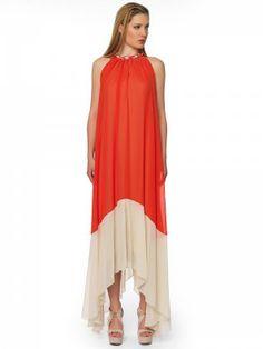 #coral_dress Coral Dress, Maxi Dresses, Fashion, Moda, Coral Gown, Fashion Styles, Curve Maxi Dresses, Fashion Illustrations