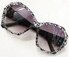 Purple Lenses Leopard Sunglasses