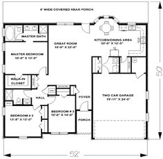 U Shaped Floor Plans Shaped Home With Unique Floor Plan Hwbdo64049 New American Someday