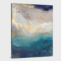 A vast and expansive view of the coastline,this oversized abstract  transcends time, taking one back to the remote volcanic outpost of Napoleon  Bonaparte's exquisite exile.Select your hanging preference.