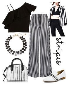 """Stripes!"" by schenonek on Polyvore featuring moda, DKNY, Elizabeth and James, River Island, Kate Spade y rag & bone"