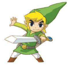 Legend of Zelda Link Cross Stitch Pattern