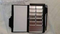 Travel sketchbook Watercolor  paint travel palette kit with magnetic removable pans. pocket size palette 2 x4 inches