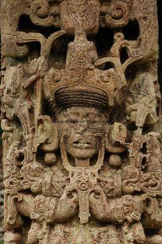 Maya rise and Fall; Copan; Honduras; Stela, Stela B, 18 Rabbit,  Mayan; Maya;
