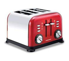 Enjoy legendary service when you buy the Morphy Richards Toaster 44732 from Appliances Online! Free metro delivery available. Red 4 Slice Toaster, Kettle And Toaster, Domestic Appliances, Best Appliances, Small Kitchen Appliances, Laundry Appliances, Cheap Toaster, Traditional Kettles, Sweet Home