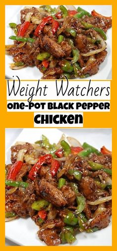 One-Pot Black Pepper Chicken - weight watchers freestyle