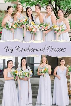 Have fun with the details of your wedding by pairing it with Kennedy Blue's bridesmaid dresses in the color 'Fog'. This light blue bridesmaid dress color has hints of purple to it making it perfect for spring or summer weddings! Available in 100+ styles, sizes 00-32, and easy to mix & match with other dress styles. Find your perfect bridesmaid dresses online at Kennedy Blue! | light blue wedding ideas | fog blue bridesmaid dress | summer wedding | elegant bridesmaid gown Light Blue Bridesmaid Dresses, Affordable Bridesmaid Dresses, Bridesmaid Dresses Online, Wedding Dresses, Blue Wedding, Elegant Wedding, Summer Weddings, Party Looks, Dress Styles