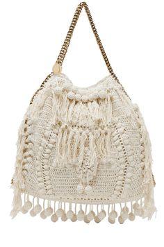STELLA MCCARTNEY  Crochet Big Tote in White