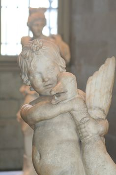 Sculpture at the Louvre: reminds me of my son!