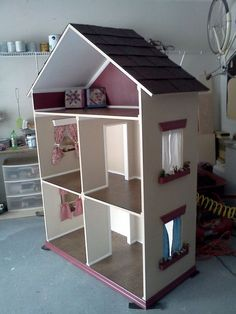 handmade doll houses | The Alyssa - Handmade Doll House for 18 Inch Dolls (American Girl Dol ...: