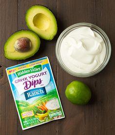 Avocado Greek Yogurt Ranch Dip - Cooking Classy
