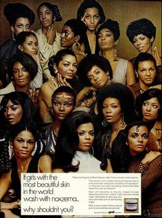 Vintage Noxzema Ad--u know thjs ad was a big deal for every black model that went to The Go See! Black Girls Rock, Black Girl Magic, 3d Foto, Black Dating, Pelo Afro, Vintage Black Glamour, Vintage Beauty, Vintage Makeup, By Any Means Necessary