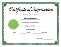 Sample Certificate Of Recognition, Free Printable Certificates, Certificate Format, Free Gift Certificate Template, Receipt Template, Best Templates, Word Templates, Certificate Of Appreciation, Employee Appreciation