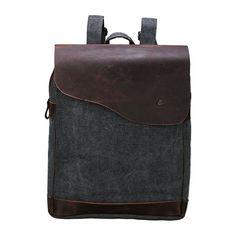 $79 Mens Canvas Book Bag Laptop Schoolbag Rucksack