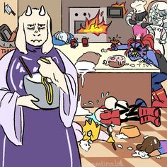 When Toriel invites everyone to make a pie with her.