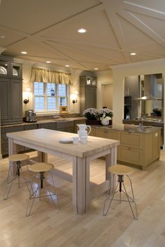 Ceiling! Cabinets! Stools! Love it all!