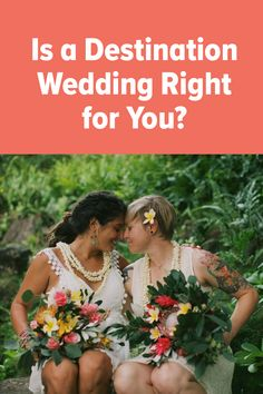 Do you like the idea of having a destination wedding, but can't help but wonder if it's the right choice for you? These simple questions will help you decide once and for all. Destination Weddings, Simple, Destination Wedding