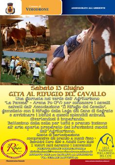 La #LegadelCane di #Milano organizza - in collaborazione con il Comune di #Vimodrone - una gira al #Rifugio del #Cavallo il 13/6