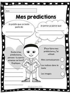 Great for Le Petit Nicolas before each chapter! French Teaching Resources, Teaching French, Teaching Activities, Teaching Ideas, Reading Strategies, Reading Comprehension, Reading Resources, Guided Reading, Teaching Reading