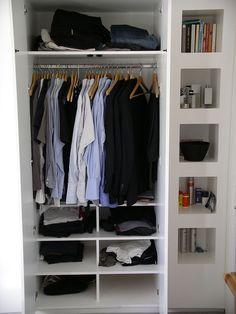 interior of bespoke fitted wardrobe