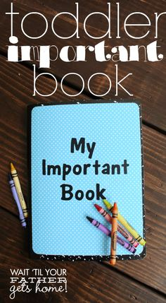 Make an Important Book to help your toddler learn the people, places, and things that are important to remember!
