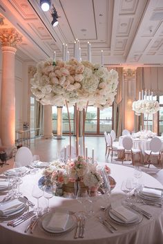 White Dendrobium Orchids, Delphinium, Silver Candelabra, Bridal Table, Floating Candles, Island Weddings, Pink Roses, Peonies, Table Settings