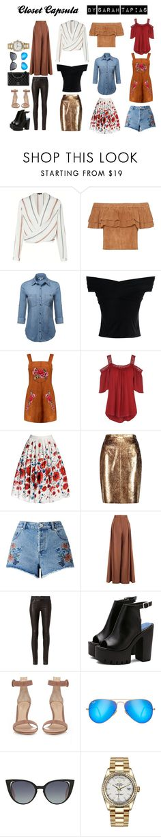 """CLOSET CÁPSULA"" by sarahtapias on Polyvore featuring moda, Chicwish, Boohoo, Rumour London, Raoul, Miss Selfridge, Zimmermann, rag & bone, Gianvito Rossi e Chanel"