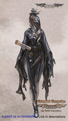 Luminous Echo: Caster girl by Wen-M.deviantart.com on @DeviantArt