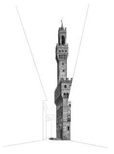 Palazzo Vecchio Florenz - New Sites Galerie Des Offices, Pantheon Paris, Florence City, Art Alevel, City Sketch, Travel Sketchbook, Architecture Drawings, Architecture Student, Travel Wall Art