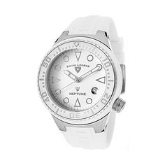 Swiss Legend Neptune White Dial White Silicone Watch ($73) ❤ liked on Polyvore