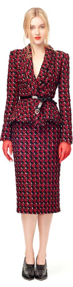 Oscar de la Renta ● Fall 2013, Tweed Suit No blouse. Just our #undershirt for women.. our open-bust design means no peek-through.