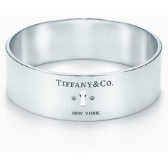 9d9038653f5a2 Tiffany Locks wide bangle in sterling silver with diamonds