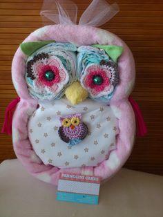 Owl Diapercake пеленки торт